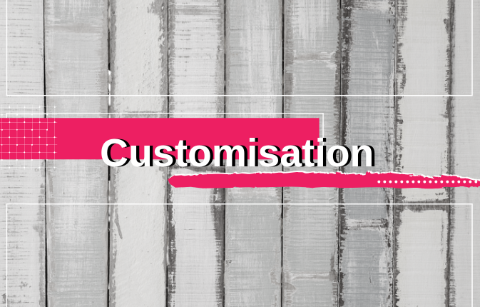 customisation personalisation